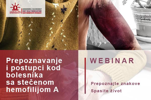 Webinar - Prepoznavanje i postupci kod bolesnika sa stečenom hemofilijom A